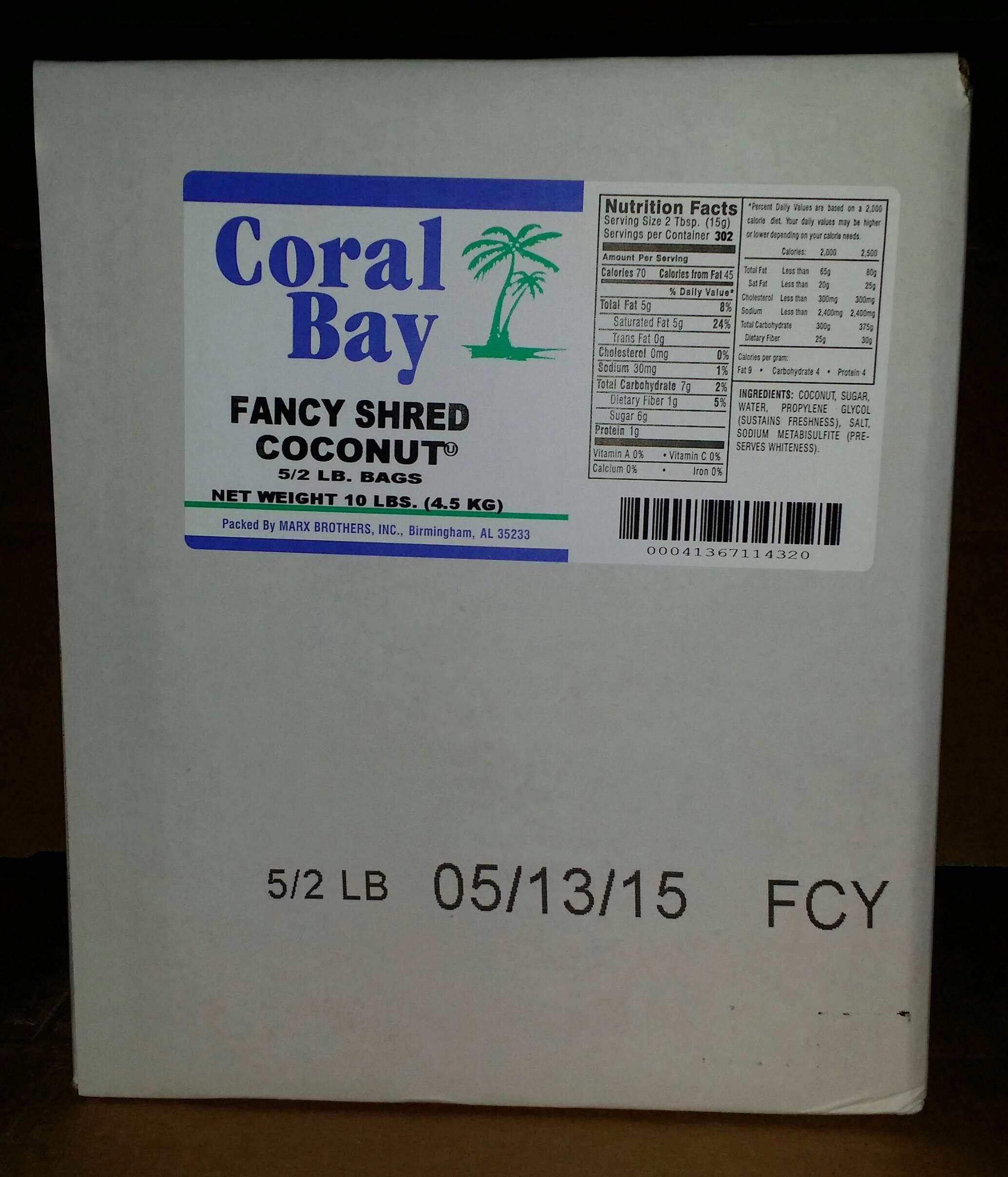 MarxCoconut Coral Bay Fancy Long Shredded Coconut, 2 Pound - 5 per case.