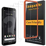 [3 Pack] UniqueMe Compatible with Google Pixel 3 Screen Protector,[Alignment Frame Easy Installation] HD Clear Tempered…