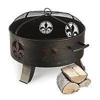 Feuerkorb schwarz XXL Fire Basket ✔ rund