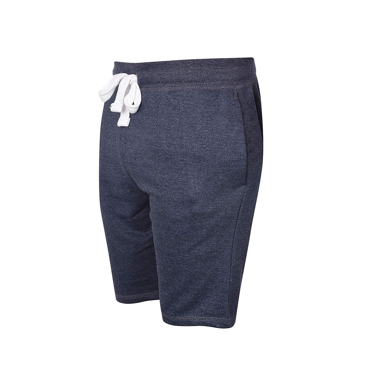 ThreadMills Pantaloncini da Uomo Casual Comodi per Sport in Morbido Tessuto di Spugna Francese con Elastico in Vita e Tasche Anteriori e Posteriori. Palestra Allenamento