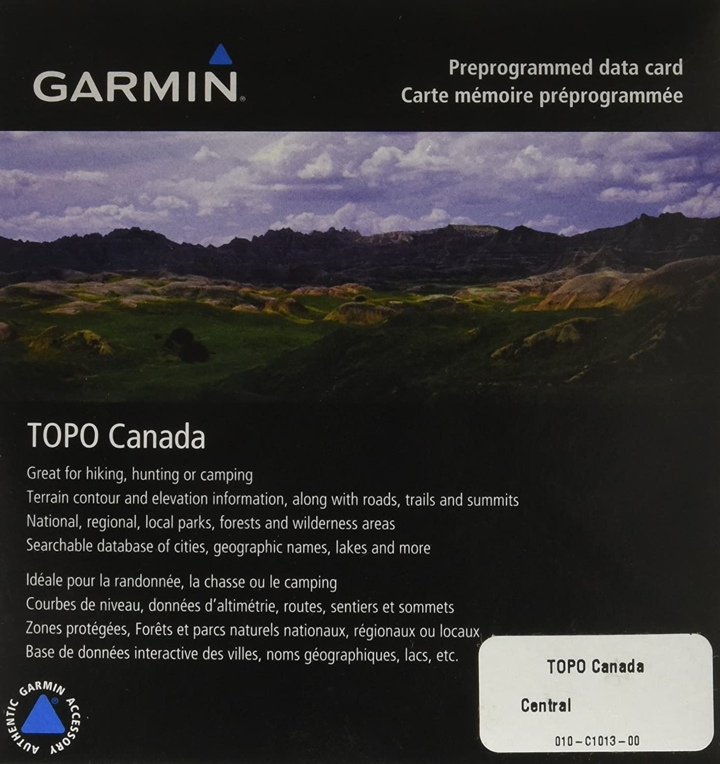 Garmin TOPO! Central Canada Map microSD Card