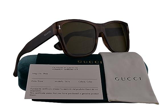 33cf9a1ffa94 Gucci GG0052S Sunglasses Havana w Green Lens 004 GG 0052S  Amazon.co.uk   Clothing
