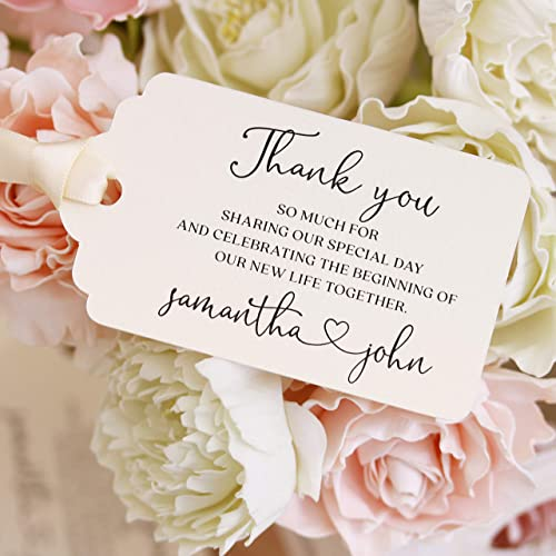 Gift tags 25 pcs 2 inch circle Thank you CUSTOMIZED printed wedding tagswhite tags   die cut tagswedding favours tagspartygift paper