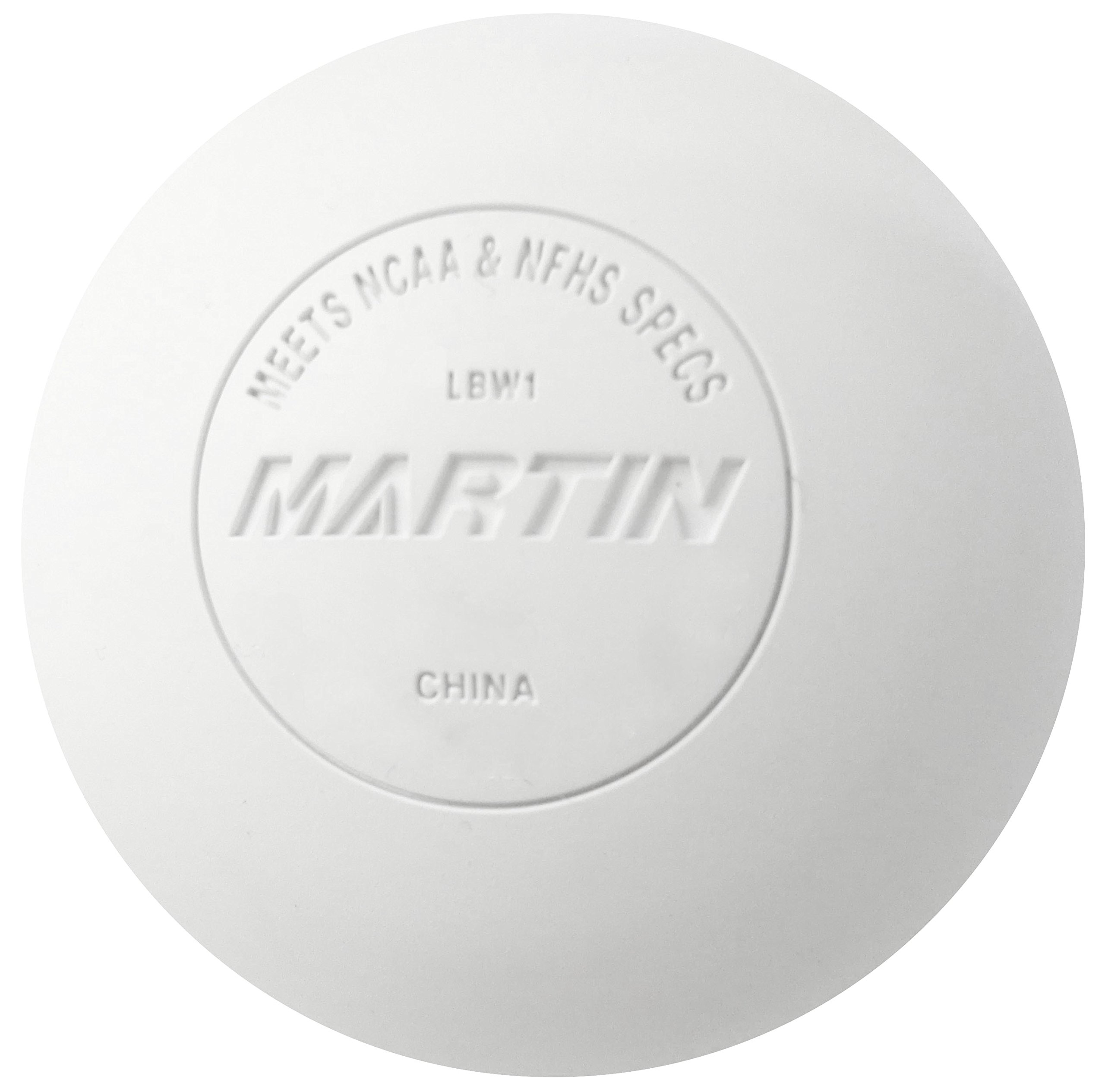 Martin Sports Lacrosse Balls NFHS Approved, White, 12 Piece