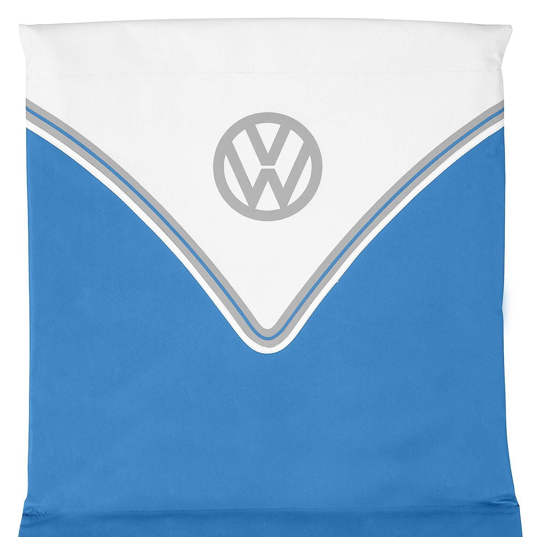 Trail Volkswagen Folding Sun Lounger Beach Mat VW Officially Licensed Lightweight Portable Carry Strap Adjustable Reclining Backrest