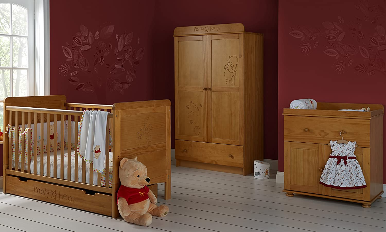 Nice Disney Winnie The Pooh 3 Piece Double Furniture Set (Country Pine):  Amazon.co.uk: Baby