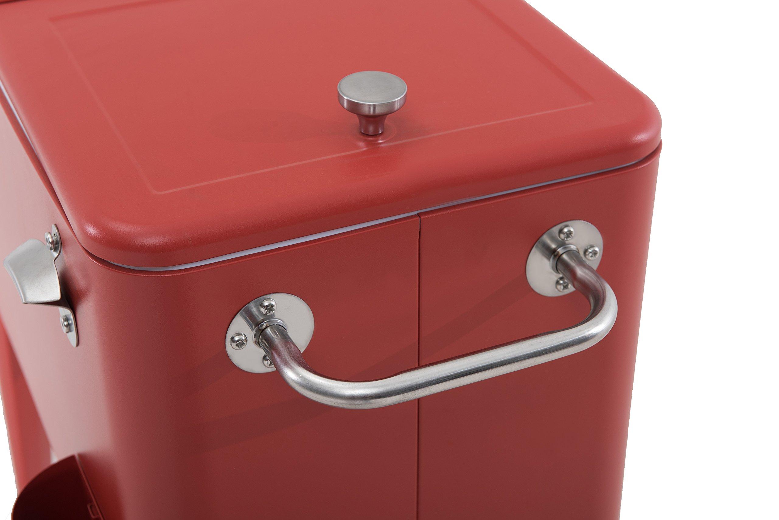 Sunjoy L-BC153PST 60 quart Wheeled Beverage Cooler in Red by sunjoy (Image #8)