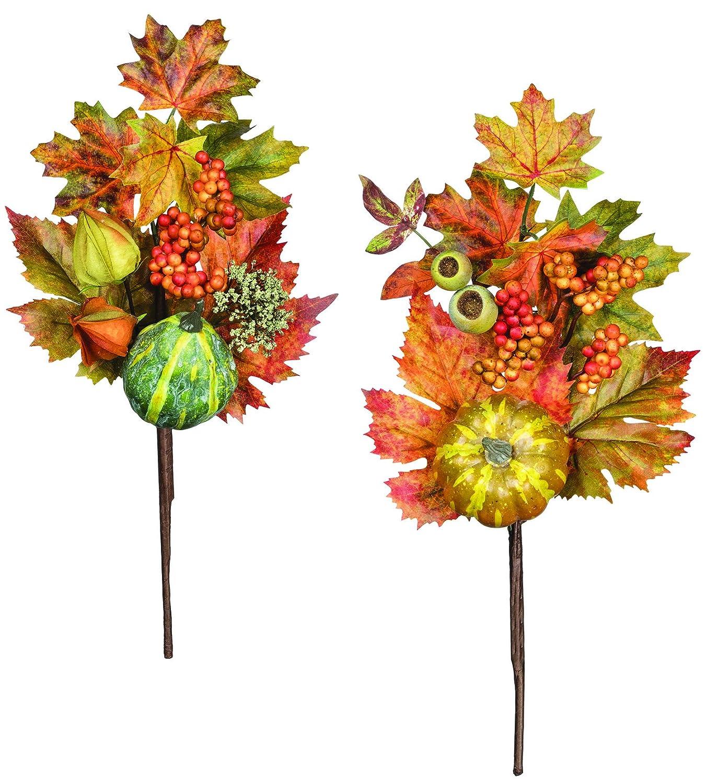 16 inch Pumpkin and Gourd Stems - Set of 2 PGLPX-SET2