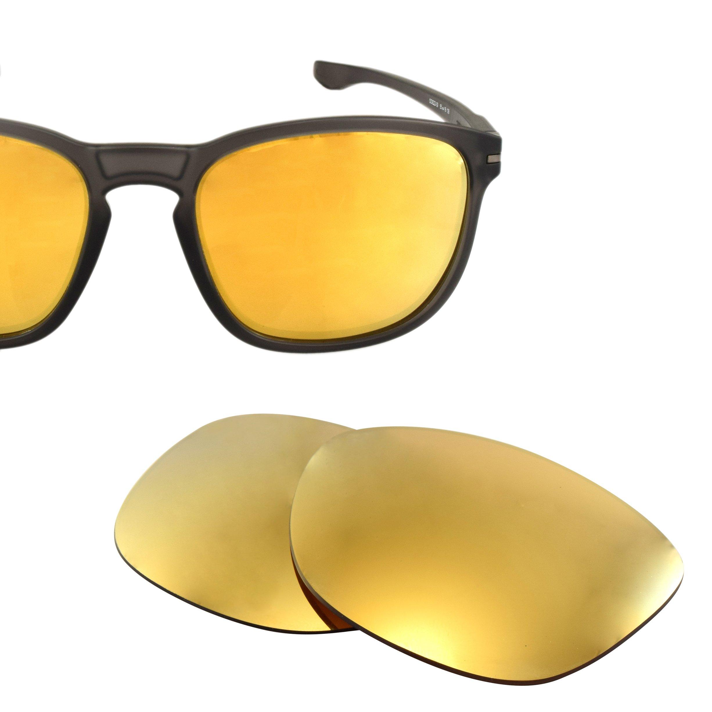 LenzFlip Replacement Lenses for Oakley ENDURO - Brown Polarized w/ 24K Gold Mirror