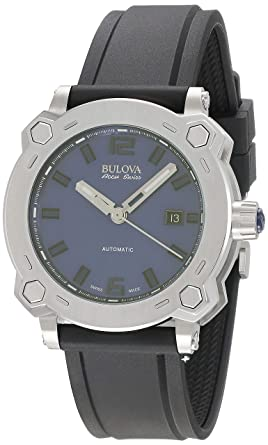 a321a3d90 Image Unavailable. Image not available for. Color: Bulova Men's 63B190  Analog Display Automatic Self Wind Black Watch