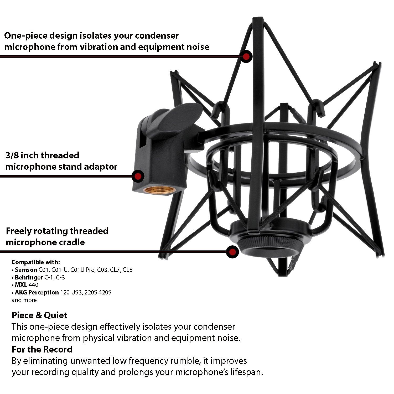 Amazon LyxPro MKS1 B Studio Condenser Spider Shockmount Anti