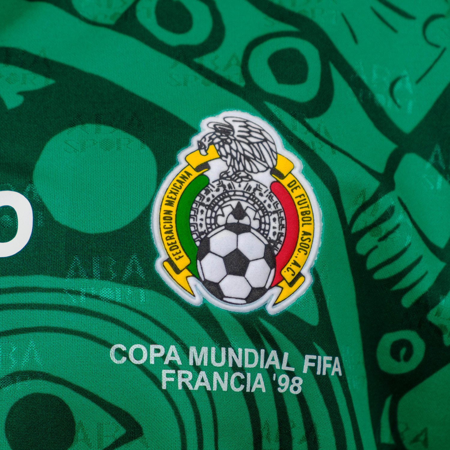 cf237c8bcd7 Amazon.com  ABA Sport Mexico Authentic 1998 World Cup Soccer Jersey   Clothing