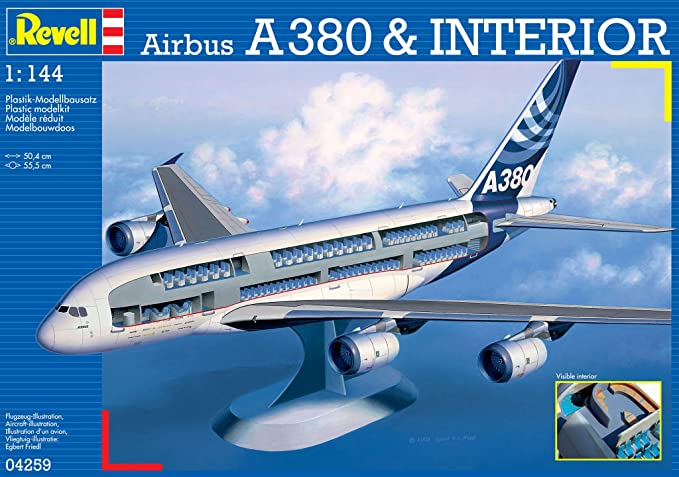 Amazon.com: Revell Airbus A3800 Visible Interior: Toys & Games
