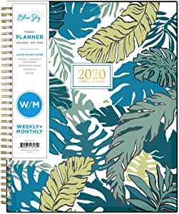 "Blue Sky 2020 Weekly & Monthly Planner, Flexible Cover, Twin-Wire Binding, 8.5"" x 11"", Grenada"