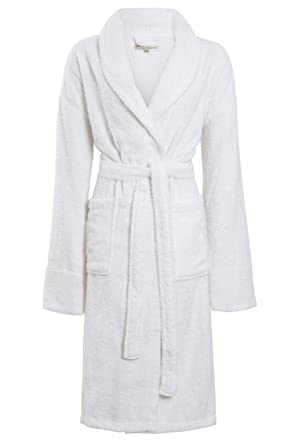 Ultimate Linens Ladies Womens Towel Dressing Gown Robe 100% Cotton Hotel  Spa Towelling Terry Pink Lilac White Size UK S M L  Amazon.co.uk  Clothing a100be4eb