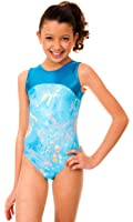 TumbleWear Girl's Makenna Blue Tie Dye Leotard