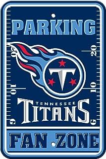 Fremont Die NFL Tennessee Titans Plastique Parking Signs 92243
