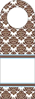 product image for Three Designing Women Designer Bottle Tags, Brown Damask Collection