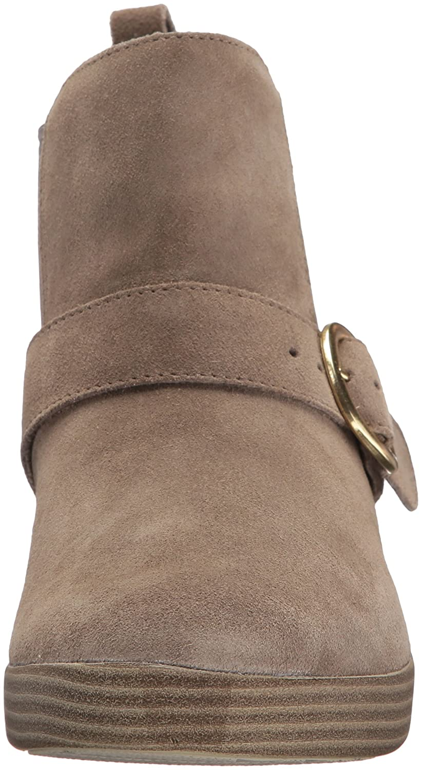 FitFlop Women's Superbuckle Suede Chelsea Fashion Boot B075ZXWMQ7 5 B(M) US|Desert Stone