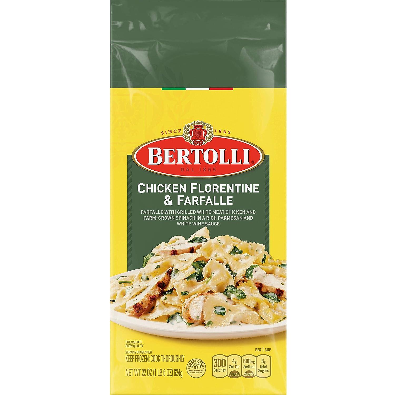 Bertolli Chicken Florentine & Farfalle Frozen Meals in a Rich White Wine & Parmesan Sauce, 22 oz.