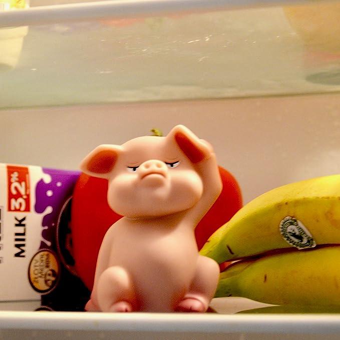 Diet Piggy El Cerdito De Dieta Ayuda para el Frigorífico con Sensor de Luz y Sonido Alarma de Dieta el Cerdo Rosa en la Nevera Un Regalo Muy Original: Amazon.es: Hogar