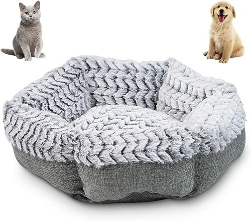 Pet-Craft-Supply-Soho-Round-Machine-Washable-Memory-Foam-Comfortable-Ultra-Soft-All-Season