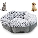 Pet Craft Supply Co. Soho Round Machine Washable Memory Foam Comfortable Ultra Soft All Season Self Warming Cat & Dog…