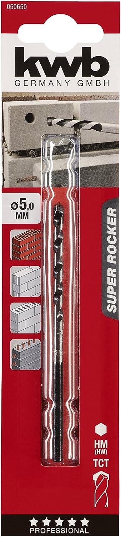 KWB Super Rocker 050640 Foret pour pierre et b/éton queue hexagonale, foret /à hautes performances r/ésistant au marteau-perforateur et aux fers darmature 050-640