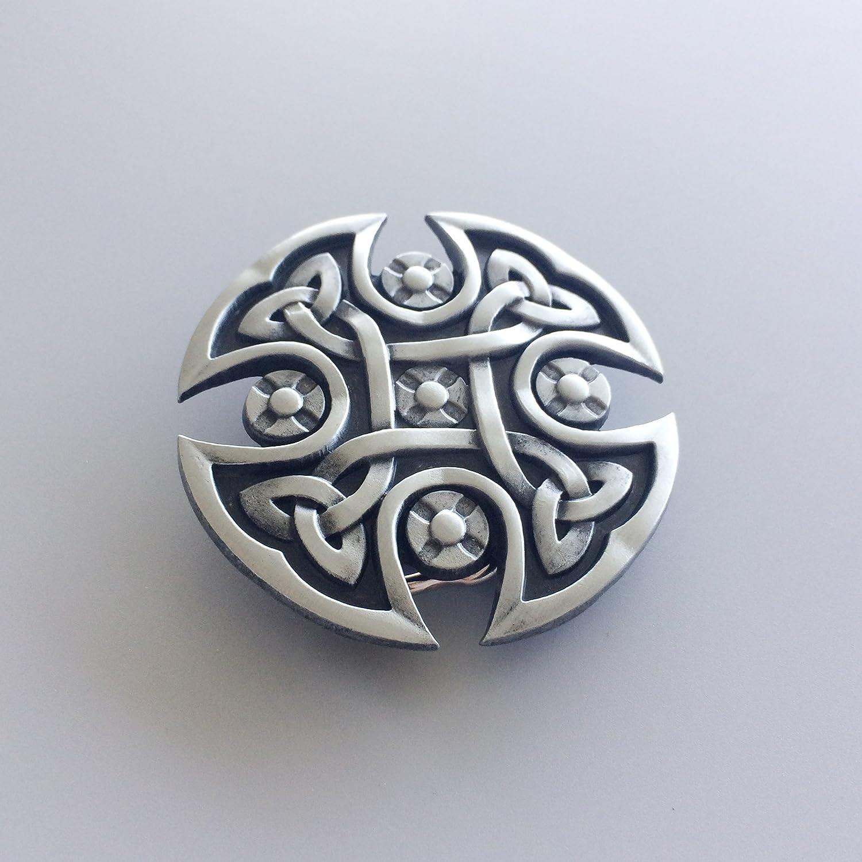 New Vintage Style Celtic Knot Cross Belt Buckle