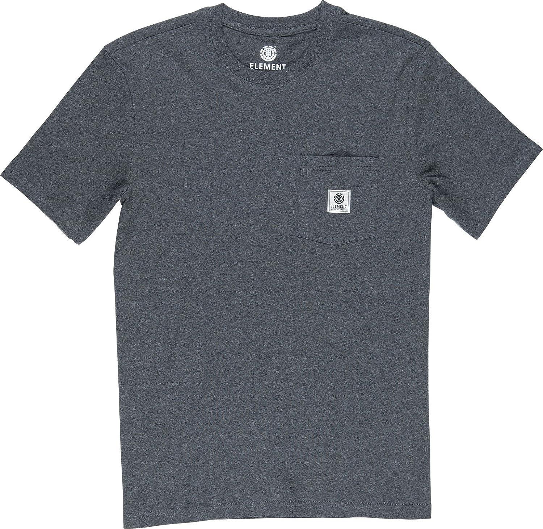 TALLA XS. Element Basic Pocket Label Camisetas, Hombre