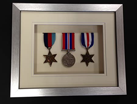 Picture Framing Direct Silver 3d Deep Box Frame To Display War ...