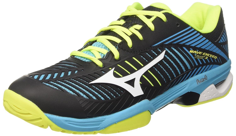 Mizuno Wave Exceed Tour AC, Zapatillas de Tenis para Hombre 40.5 EU Multicolor (Blueatollwhiteblack)