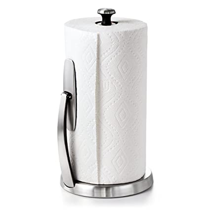 OXO Good Grips SimplyTear Standing Paper Towel Holder Brushed Stainless Steel