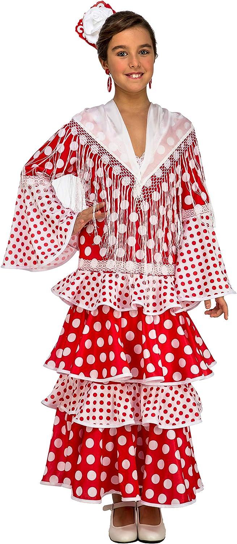 My Other Me Me-203857 Disfraz de flamenca Rocío para niña, color rojo, 3-4 años (Viving Costumes 203857)