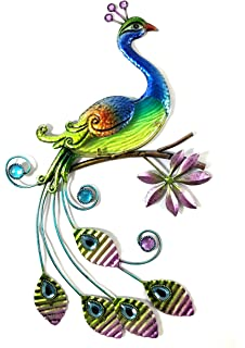 Bejeweled Display® Peacock w/ Glass Wall Art Plaque u0026 Home Decor