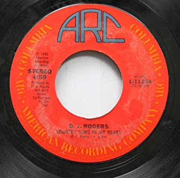 Dj Rogers Dj Rogers 45 Rpm Country Song In My Heart Love