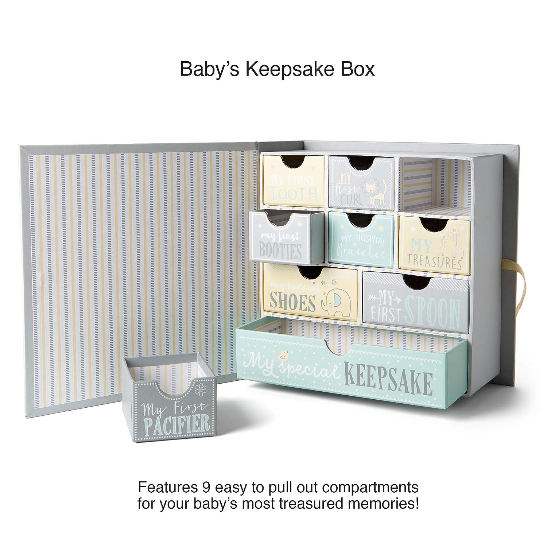 Baby Milestone Keepsake Storage Box Track Treasured Memories A Is