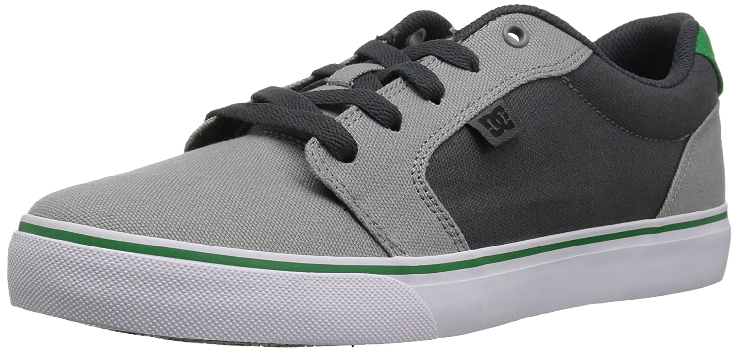 DC Men's Anvil Tx Skate Shoe 6 D(M) US|Grey/Grey/Green