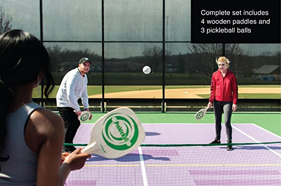 Amazon.com : Verus Sports TG410 Complete Pickle ball Set (includes net, base, paddles, and balls) : Sports & Outdoors