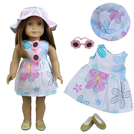 ZITA ELEMENT Vestiti per bambole - 4 pezzi Abiti estivi per bambola  americana da 18 pollici 2d0bcdbfbda