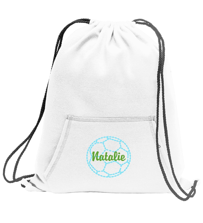 Personalizedサッカー – スウェットシャツCinch Bag with Front Pocket B01M07SS1Q ホワイト ホワイト