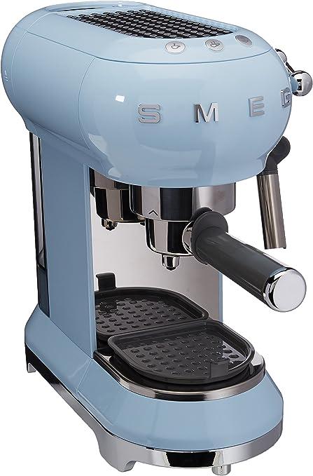 Smeg macchina da caffè espresso ecf01pbeu, blu pastello stile retrò anni `50 146875