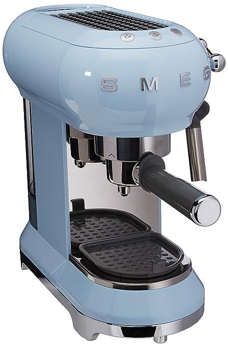 SMEG ECF01PBEU Máquina de Café Expreso 1300 W, Azul Pastel