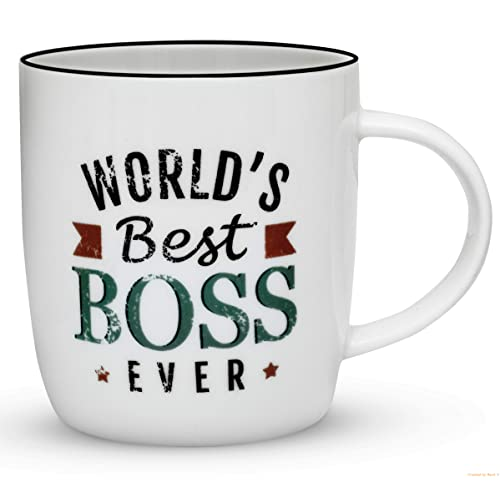 gifffted worlds best boss ever coffee mug funny gift for best boss in the office