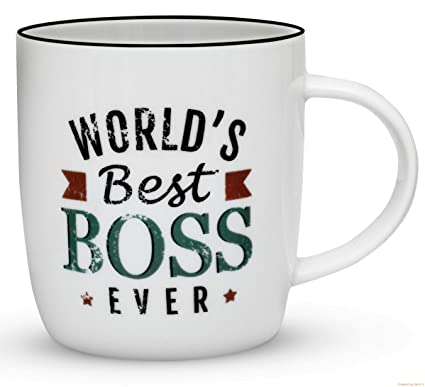 Gifffted The Worlds Best Boss Ever Coffee Mug Bosses Day Gifts Ideas Funny Present