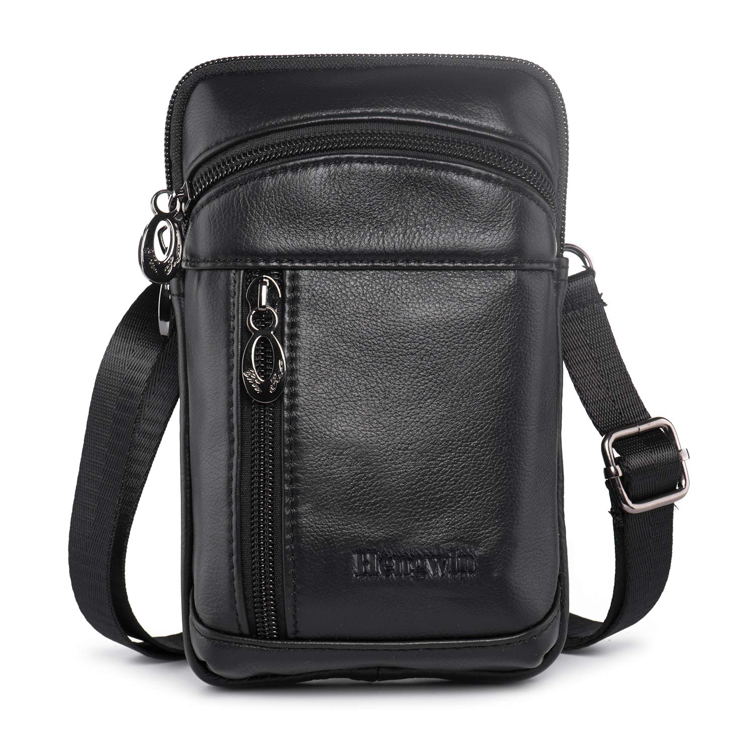 0afae197d341 Hengwin Men Leather Shoulder Crossbody Bags, Small Vertical Cell ...