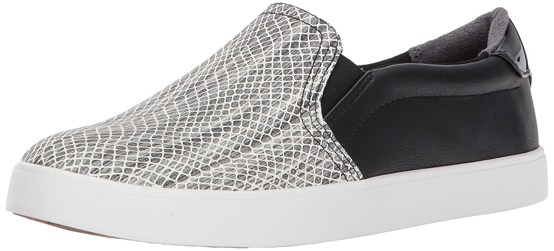 Dr. Scholl's Women's Madison Fashion Sneaker B06XD3R868 11 B(M) US|Black/White Snake Print
