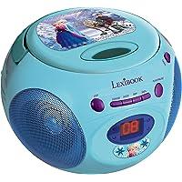 Disney Frozen-RCD102 Frozen Reproductor De CD Portatil (Lexibook Rcd102Fz), Color Azul