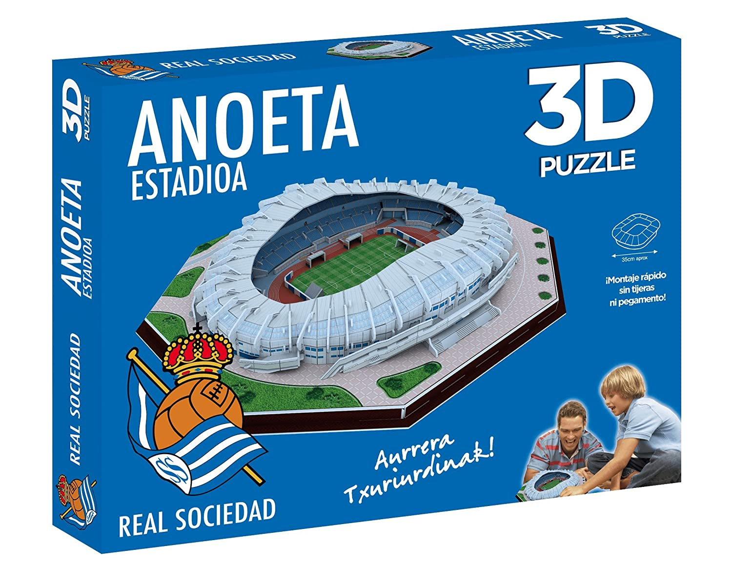 1f5fbc0f1357a Real Sociedad 3d Puzzle Stadium anoeta (Official Product)  Amazon.co.uk   Toys   Games