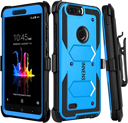 Black ZTE ZMax Pro 2 Case Zenic Compatible with ZTE Blade Z Max Case Heavy Duty Shockproof Full-Body Protective Hybrid Case with Swivel Belt Clip and Kickstand Compatible with ZTE Sequoia//Z982